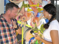 Interviewing artist and co-founder of the IBB, David Bade