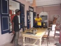 IBB students and camera-men, Rashid Pieter and Fabian Plantijn
