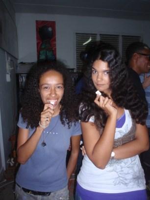Posing with Kristel