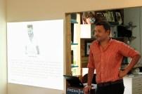 Ewan Atkinson giving his presentation