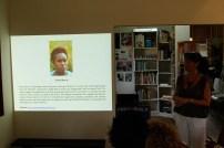 Annalee introducing Versia Harris' work