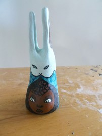 Painted bunny cast.