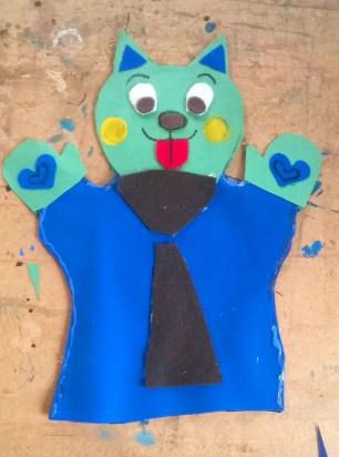 Cherise's test hand-puppet.