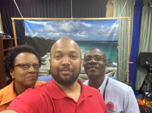 Lynn Lucas and Felton Ince of Barbados Government Information Service, Photo by Powys Dewhurst.