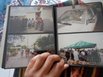 Looking through family photo albums