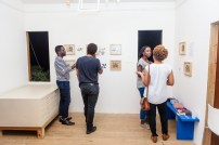 Viewing the work at FRESH MILK XIX