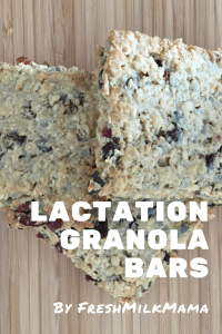 Lactation Granola Bar recipe