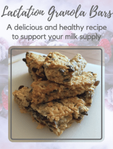 lactation granola bars recipe