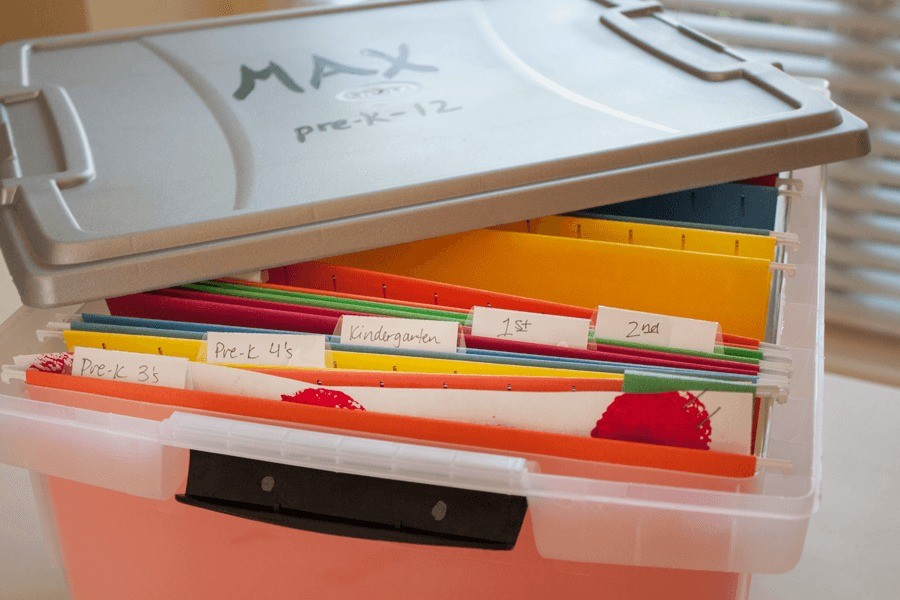 Organization // School Memories Storage by Fresh Mommy Blog