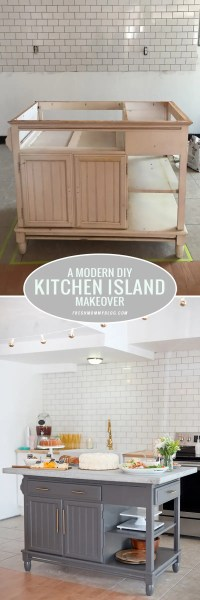 A Modern DIY Kitchen Island Makeover on a Budget