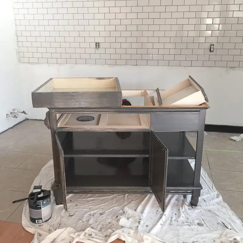 A Modern DIY Kitchen Island Makeover On A Budget