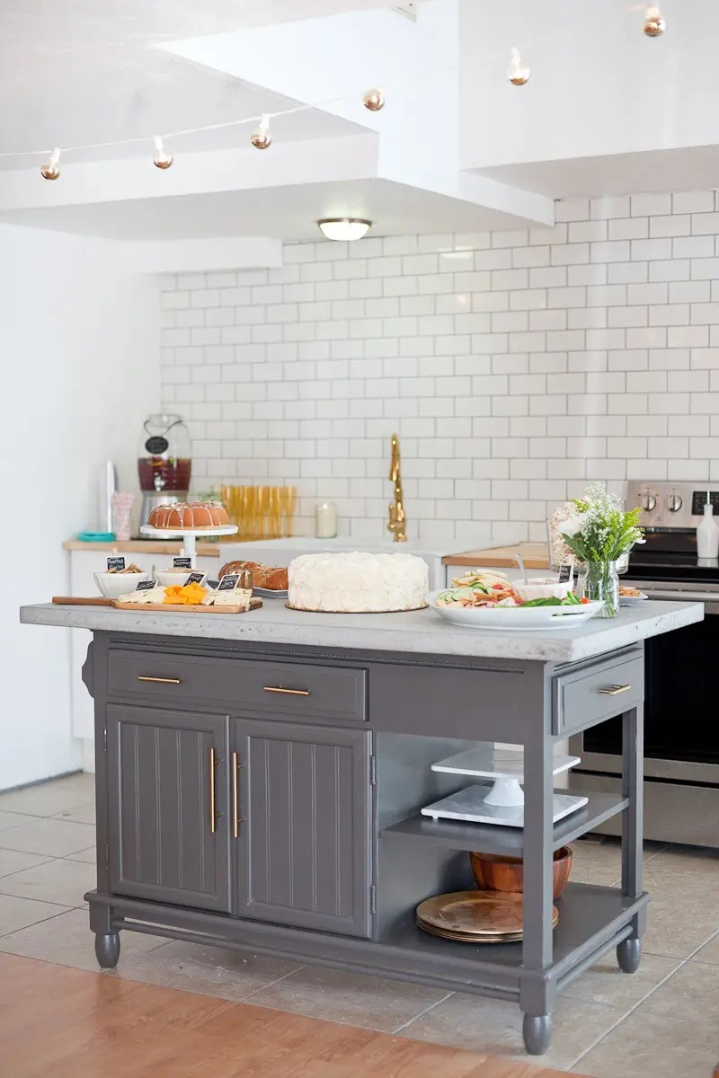 Kitchen Island Makeover A Modern Diy Kitchen Island Makeover On A Budget Fresh Mommy
