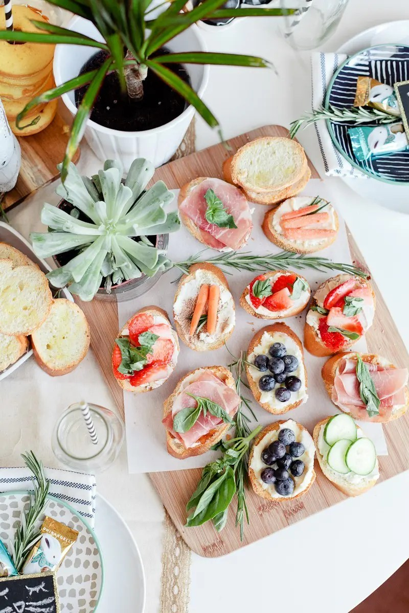 Easy Easter entertaining. Simply Delicious Easter Crostini Brunch with donuts and Ghiradelli chocolate!-39
