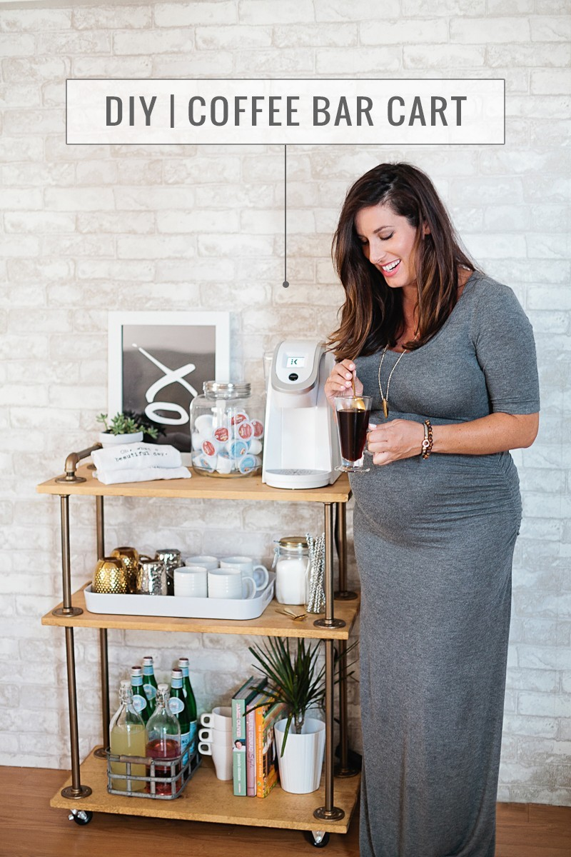 Diy Coffee Bar Cart Fresh Mommy Blog