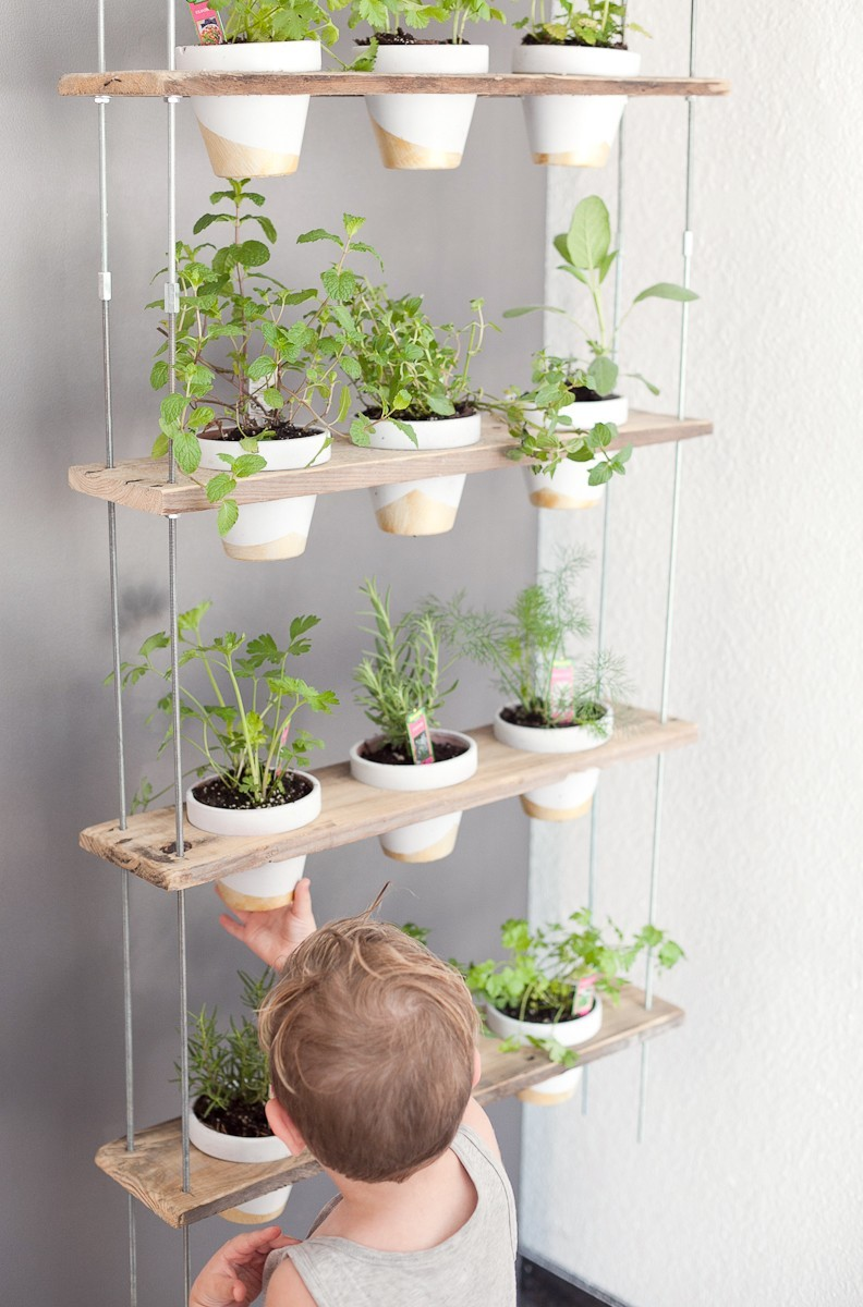 DIY Hanging Herb Garden -18 - Hanging Herb Garden DIY by popular Florida lifestyle blogger Fresh Mommy Blog