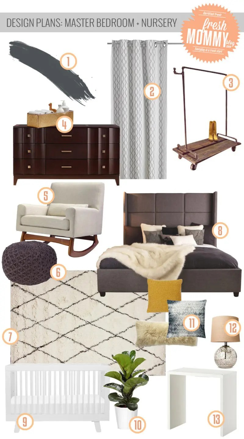 Design plans master bedroom and nursery fresh mommy blog for Master bedroom with attached nursery