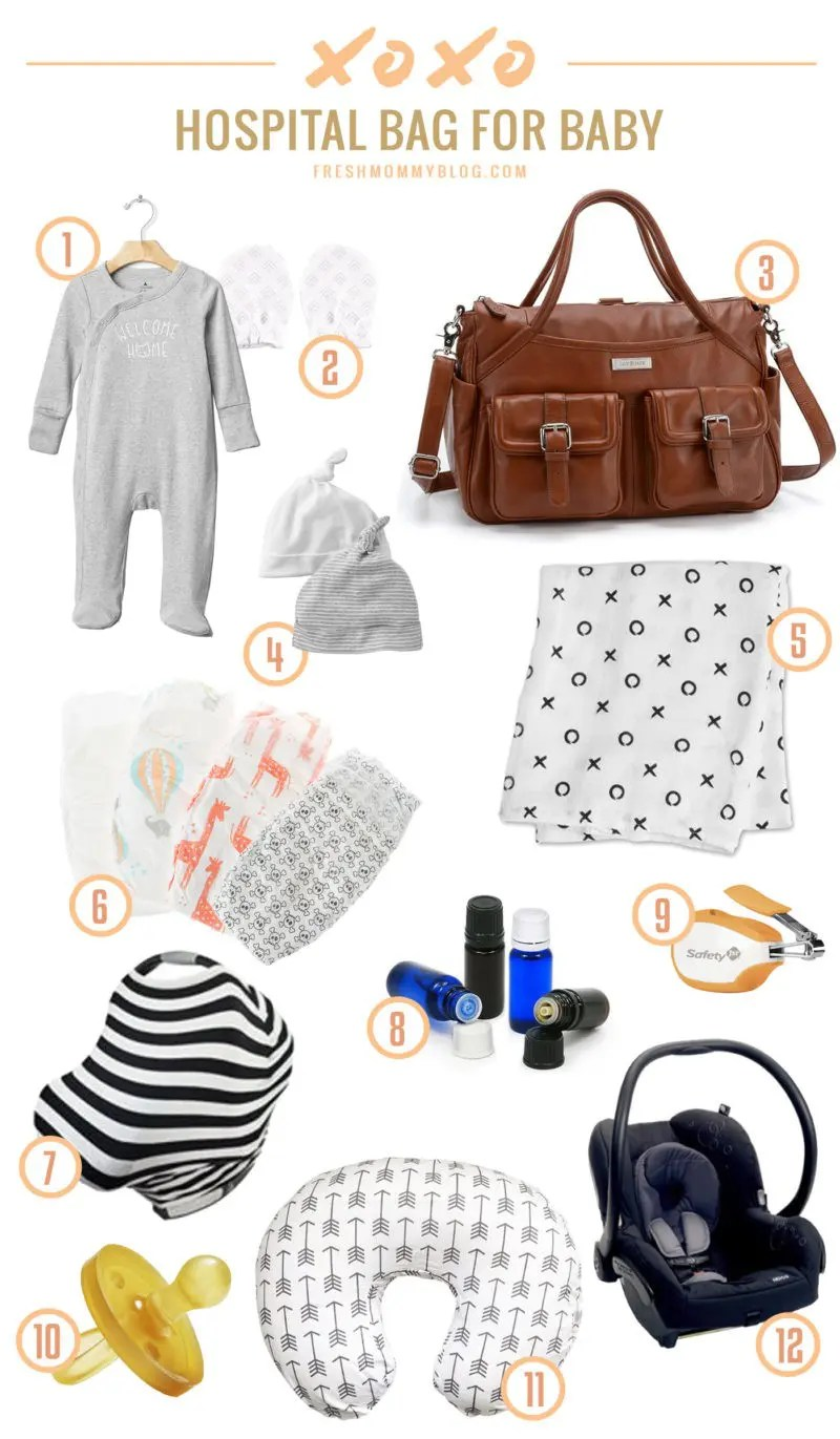 How to pack the diaper / hospital bag for baby... all the things you need and what you don't!