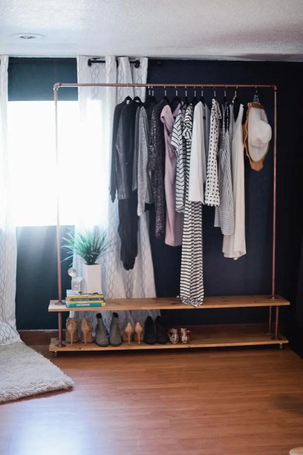 Rolling Diy Garment Rack Wardrobe Fresh Mommy