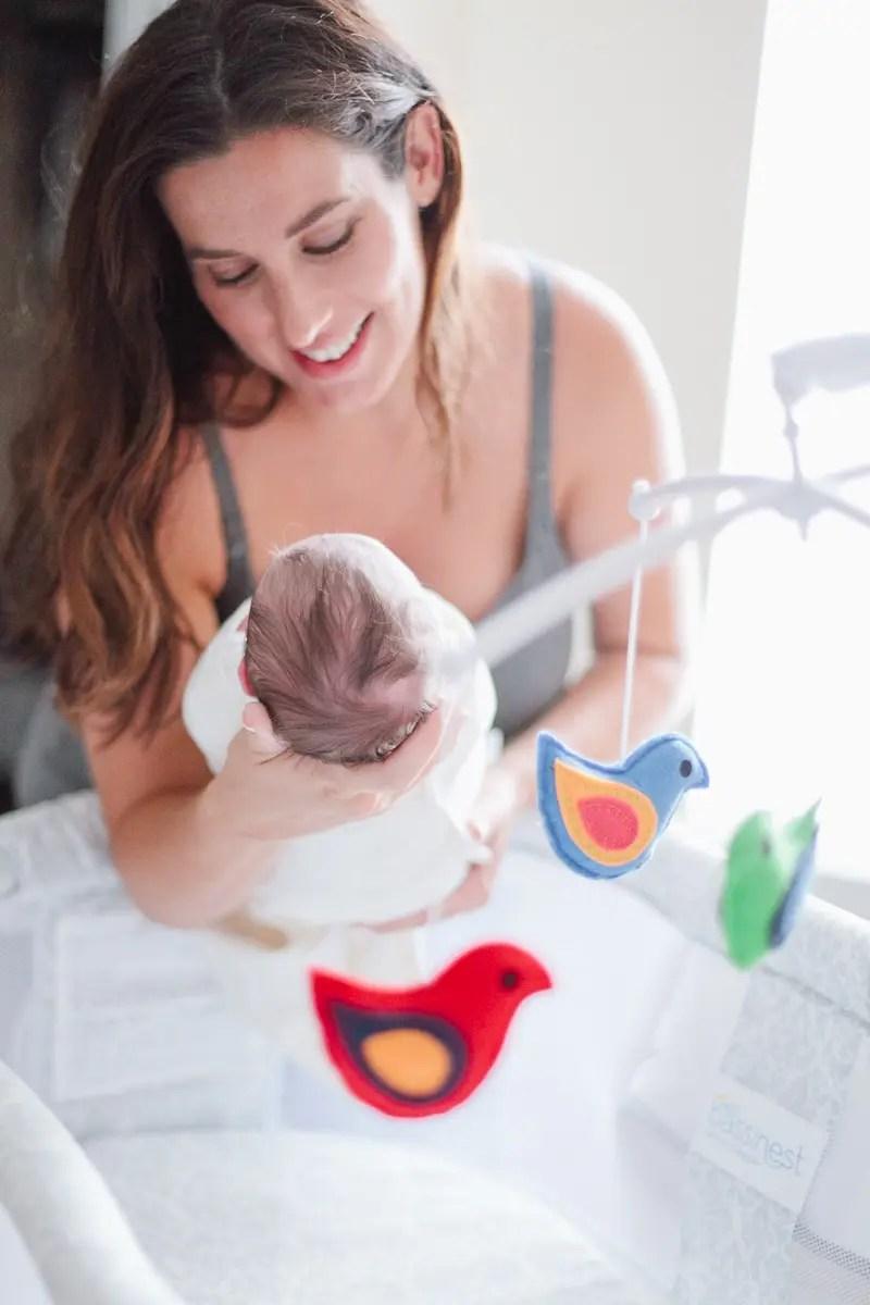 Light and Bright Bedroom Nursery with Newborn-36