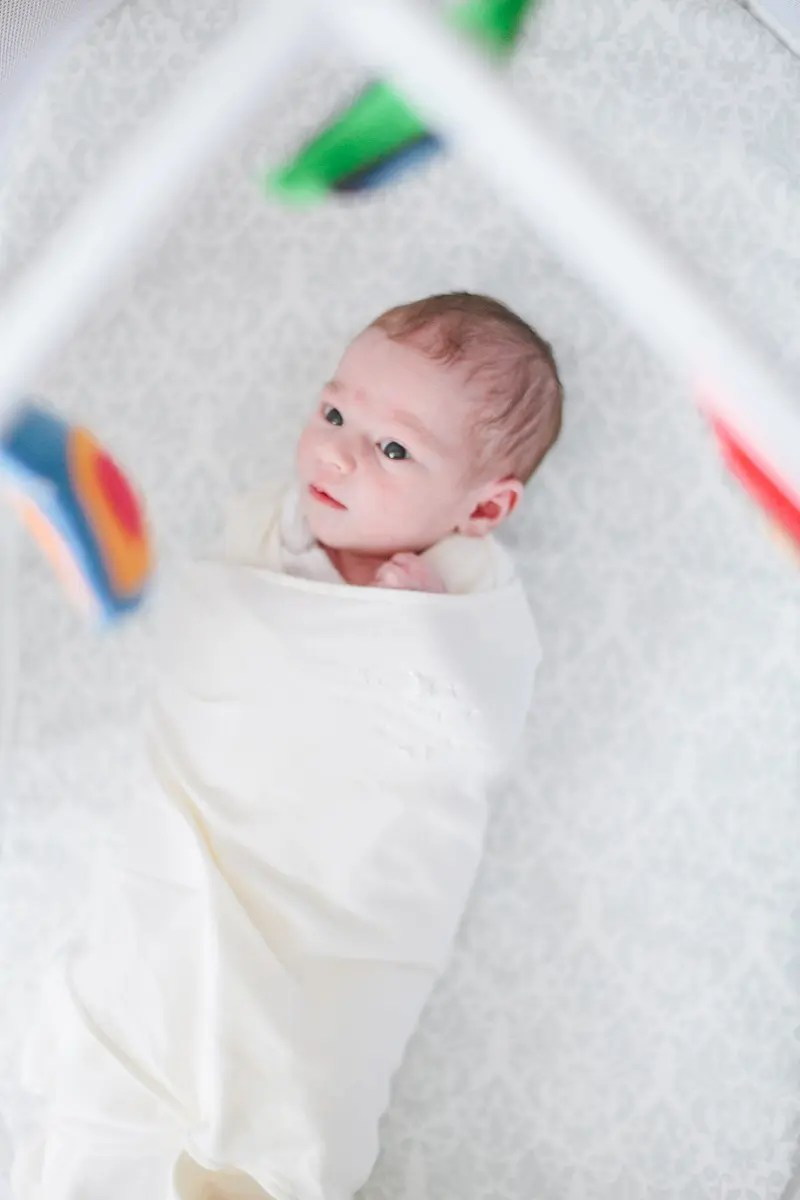 Light and Bright Bedroom Nursery with Newborn