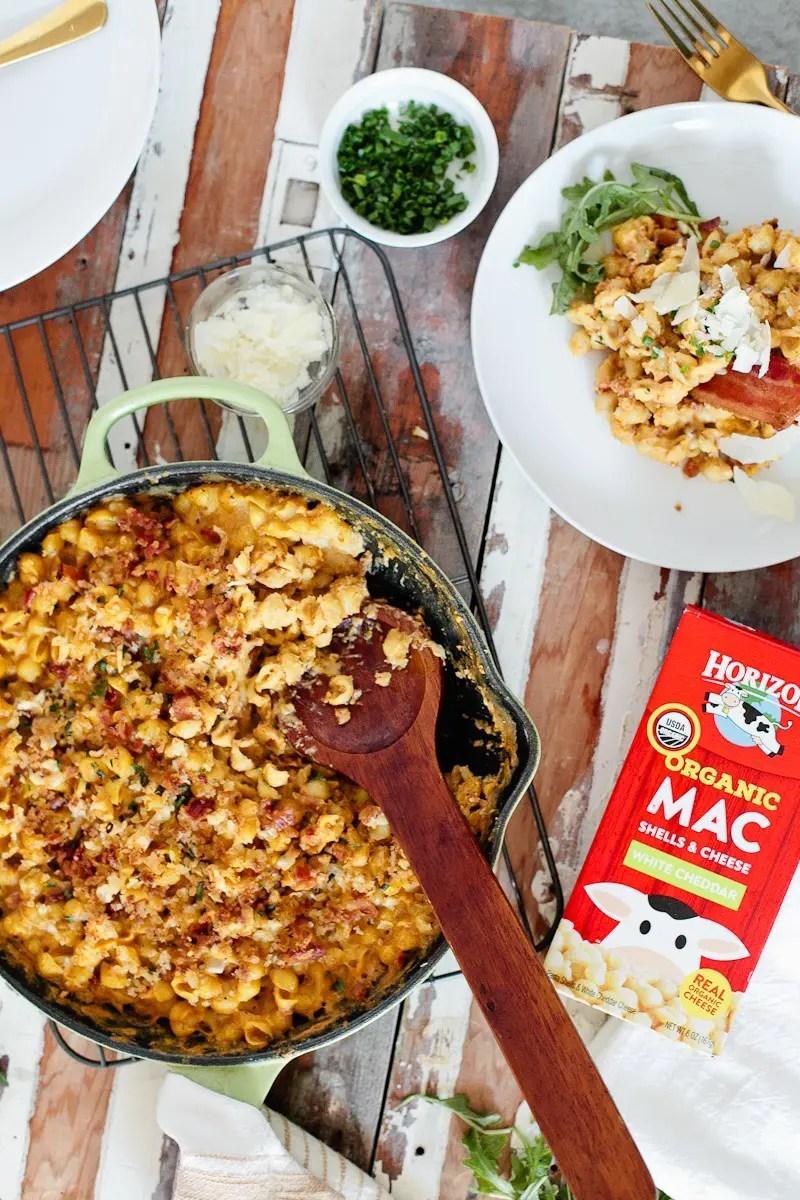 A Deliciously Creamy Pumpkin Bacon Mac and Cheese Recipe