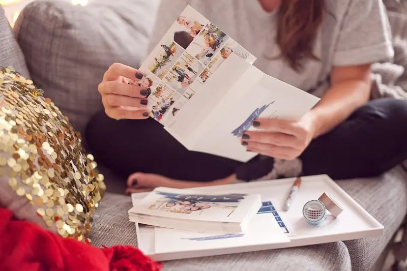 Blue Family Photo Christmas Card 2016 from Minted
