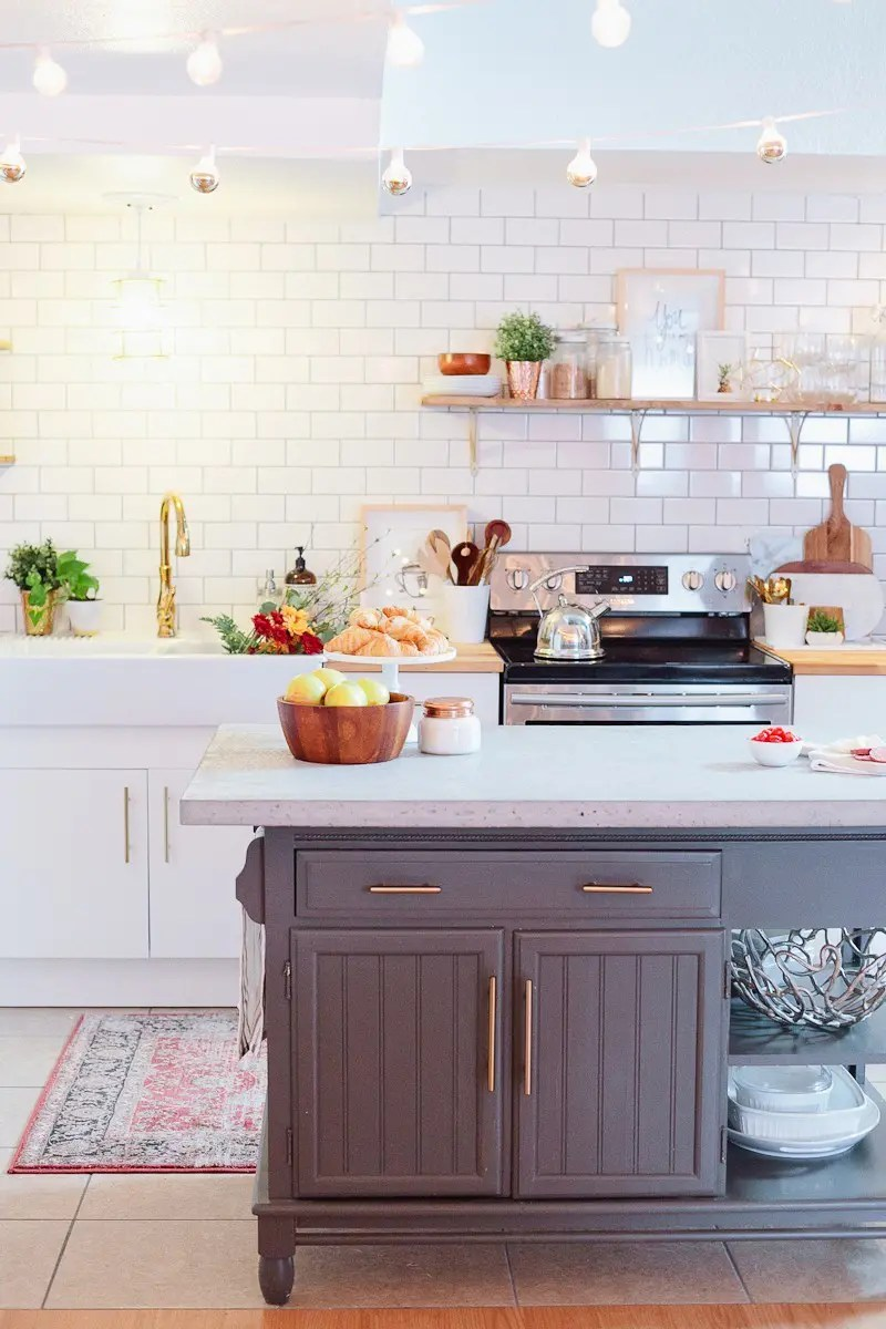 A White And Wood Kitchen Install And Makeover With Farmhouse Sink. How To  DIY And