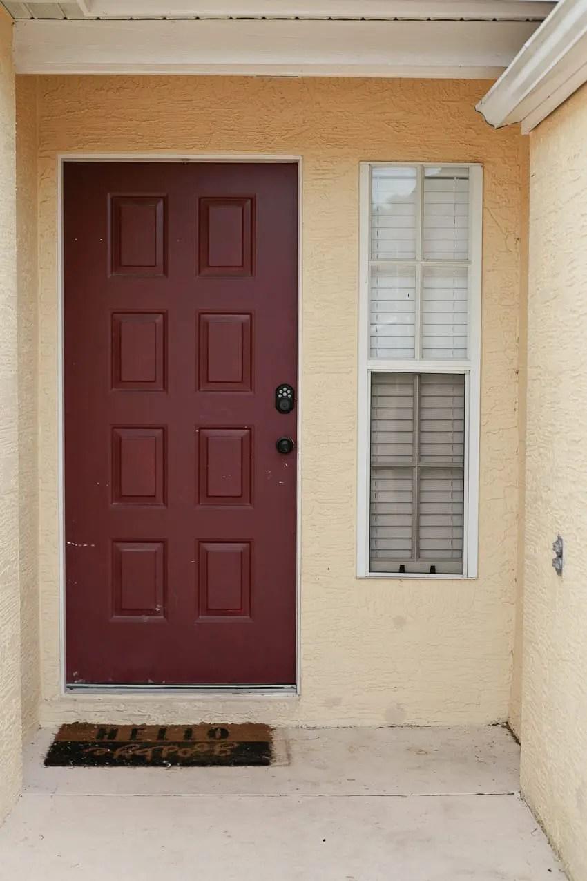 Our Front Door Entryway BEFORE:
