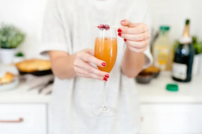 Set Up a Mimosa Bar for the Holidays + Sugared Cranberries Recipe