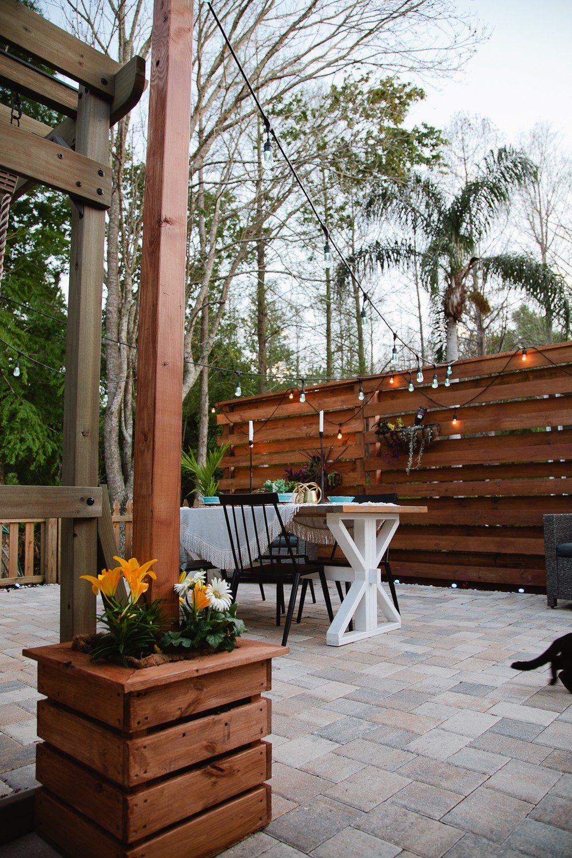 Diy Outdoor Planter Box For Hanging String Lighting Fresh Mommy Blog