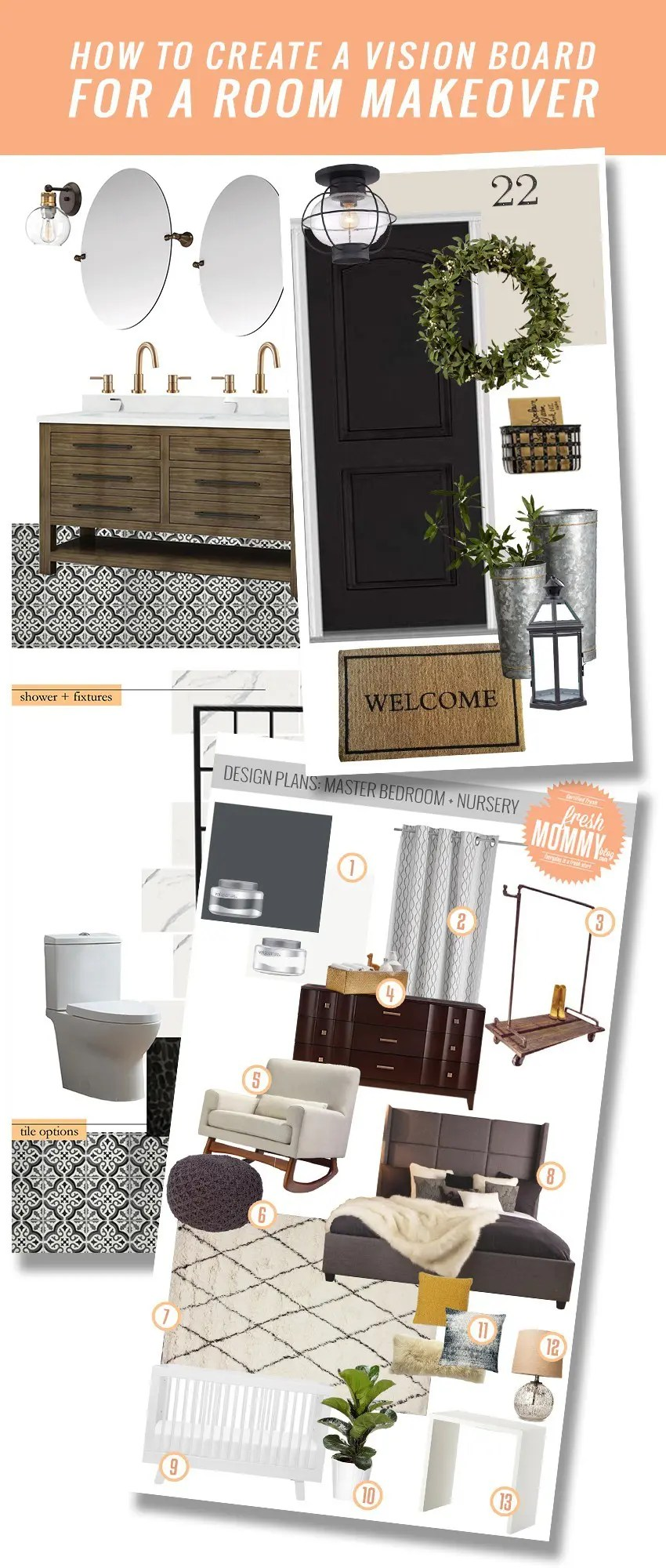 How To Create A Mood Board For A Room Makeover Fresh Mommy Blog
