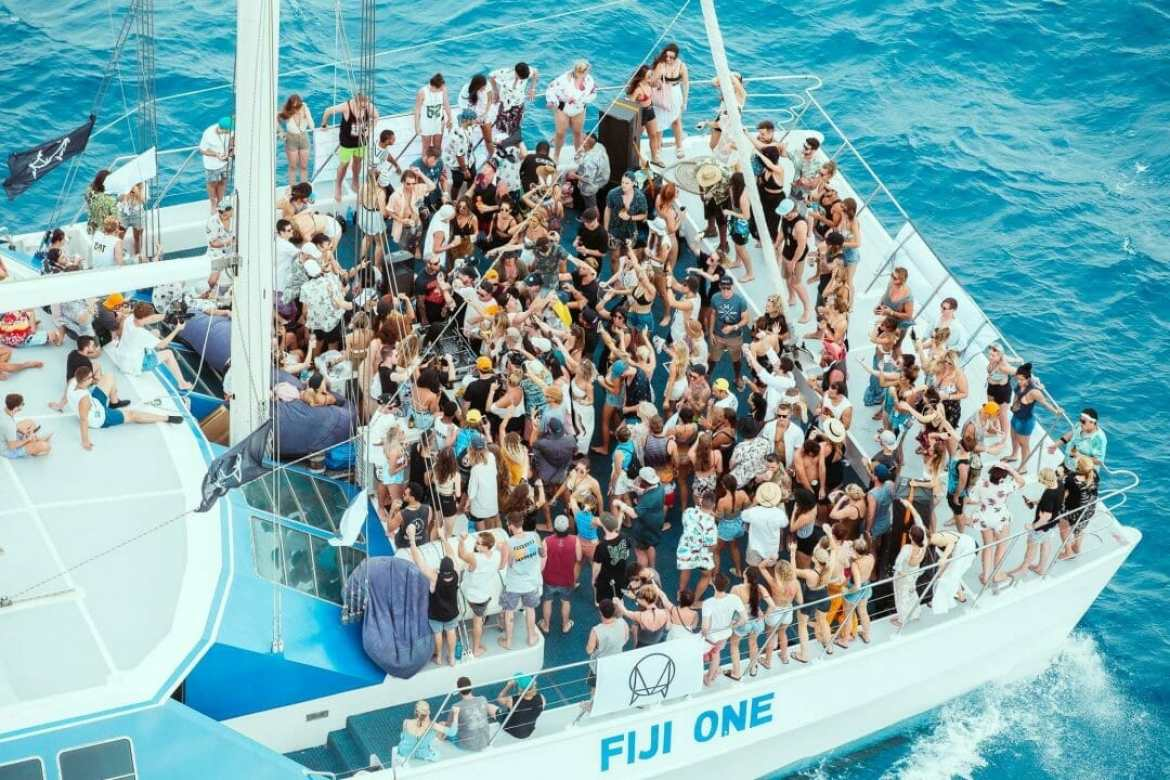 Image of people partying on a boat