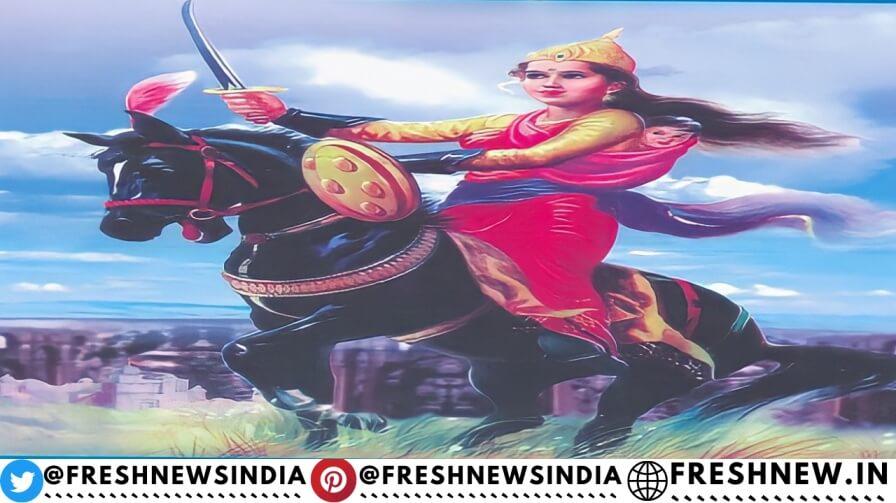 Rani Lakshmi Bai [Hindi] Essay Story Death, History Family