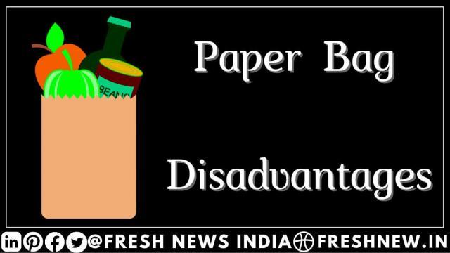 Disadvantages of Paper Bag