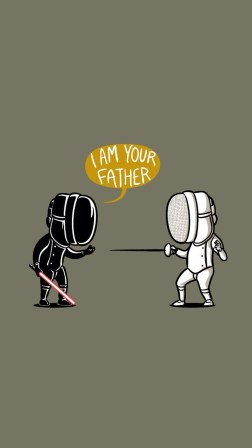 Fencing Star Wars I Am Your Father Android Wallpaper