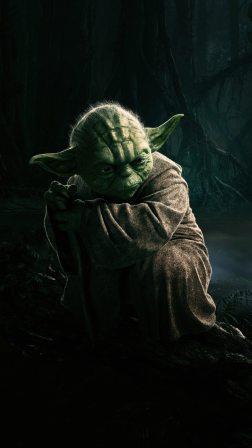 HD Yoda Illustration Star Wars Android Wallpaper