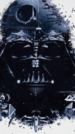 Star Wars Darth Vader Spaceships Android Wallpaper