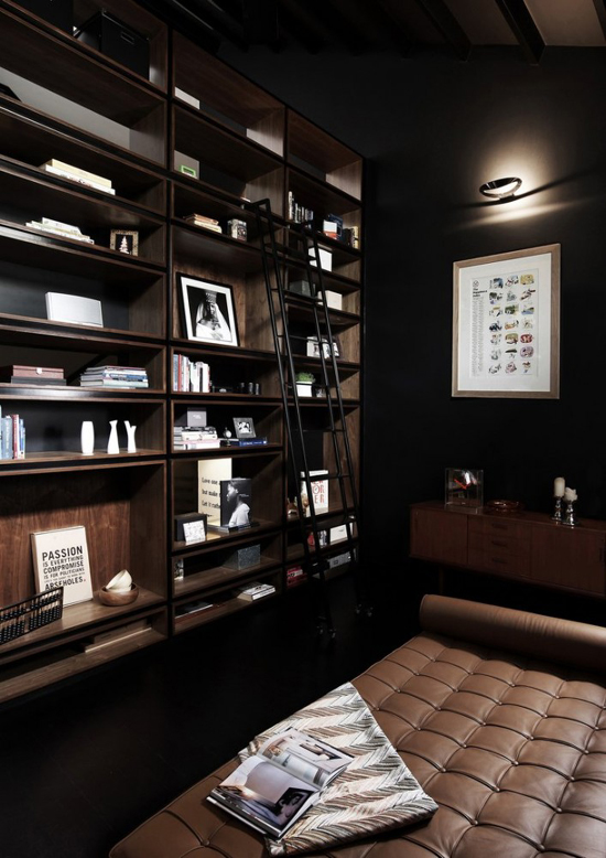 Modern and Black Shop House Interior Design in Singapore