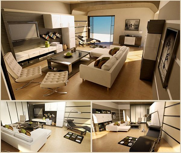 13 Coloration and Design Ideas for Bachelor Pad  Freshnist