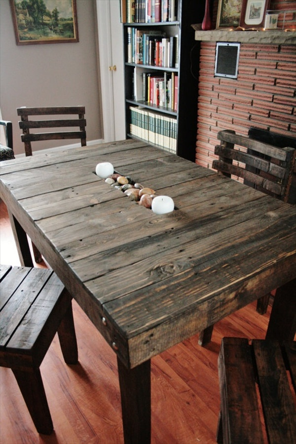 17 DIY Plans Decorating Your Food Area on Pallet Dining Table  Freshnist