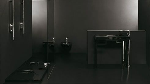 black bathroom 2 Black Bathroom Design Inspiration