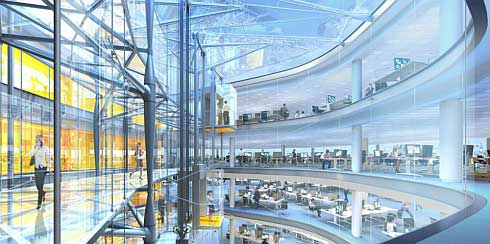 london sustainable building interior Londons Sustainable Building by Sheppard Robson