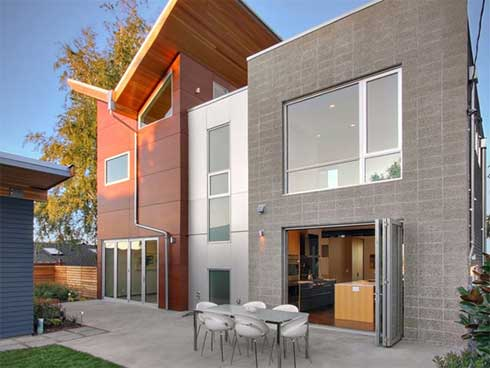 queen anne residence backyard Stunning Architectural Project : The Queen Anne House by Blip Design