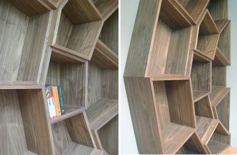 spider web bookcase Bookshelf ( great for corners ) Inspired by a Spider Web