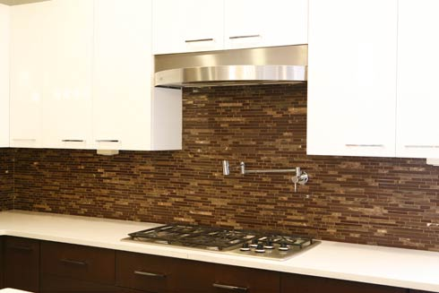 caption 2 Decorating with Brown Glass Tile: High End Style for Both Husband and Wife