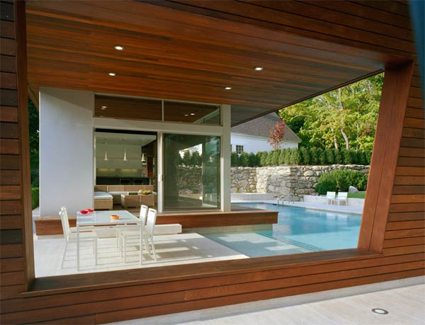 outstanding swimming pool house design 4 Beautiful Pool House in Connecticut by Hariri & Hariri Architecture