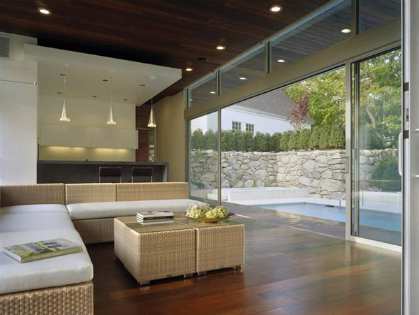 outstanding swimming pool house design 7 Beautiful Pool House in Connecticut by Hariri & Hariri Architecture