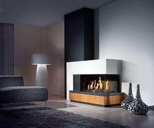 modern fireplace2 Modern Gas Fireplaces Ideas from Attika Feuer