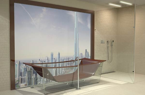 bathtub bathroom3 Cool Design for Your Bathroom : WAVE Diamond Tub