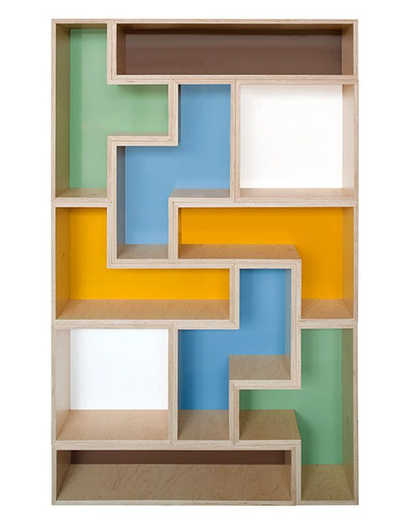 big tet flat10 Trendy Furniture: Modular Tetris Shelves
